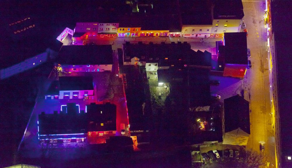 Bochum von oben - Rotlichtviertel Bochumer Eierberg an der