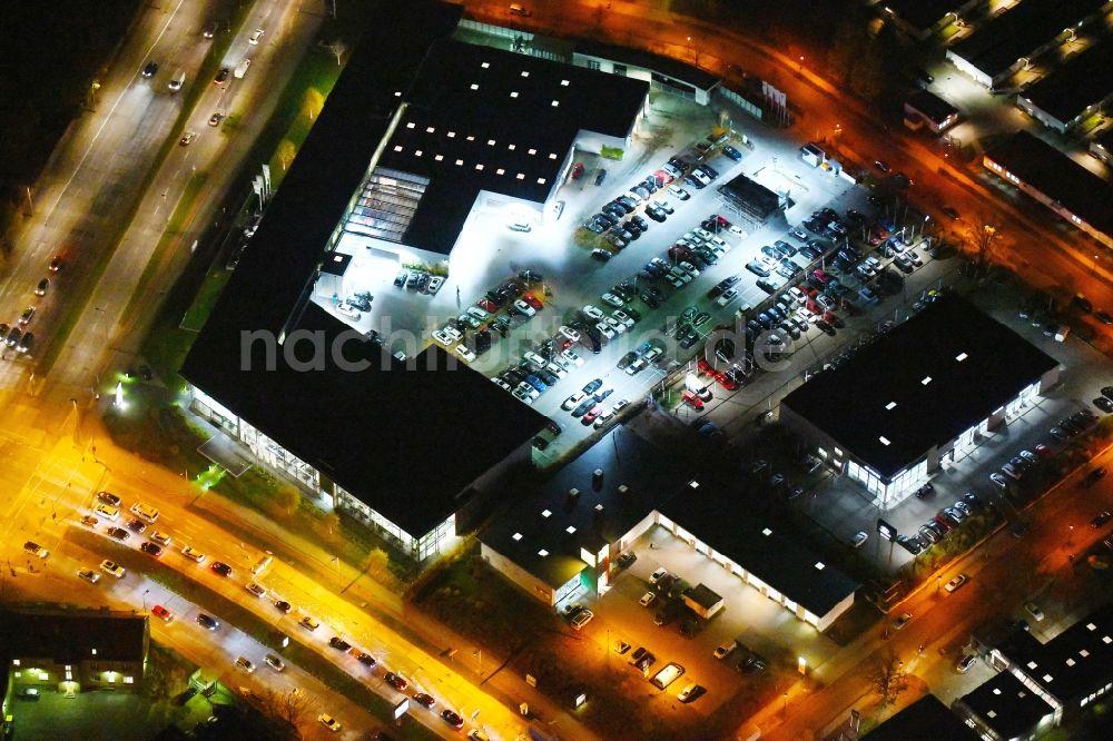 Berlin Bei Nacht Von Oben Nachtluftbild Autohandels Gebäude Des