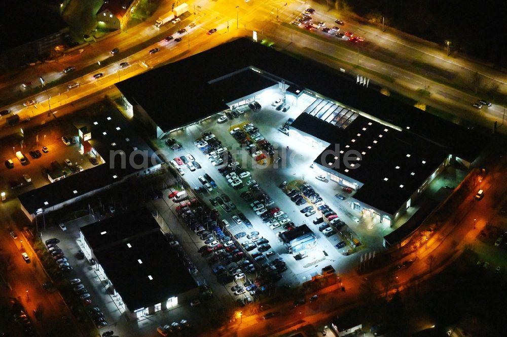 Nacht Luftaufnahme Berlin Nachtluftbild Autohandels Gebäude Des