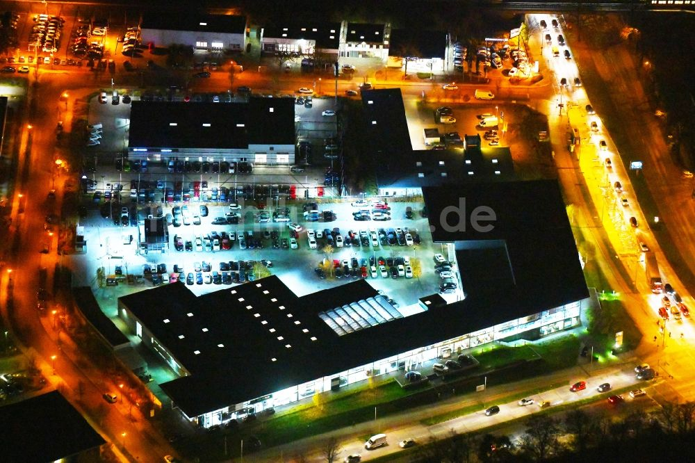 Nachtluftbild Berlin Nachtluftbild Autohandels Gebäude Des