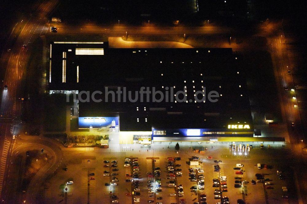 Nachtluftbild Rostock Nachtluftbild Gebäude Des Einrichtungshaus