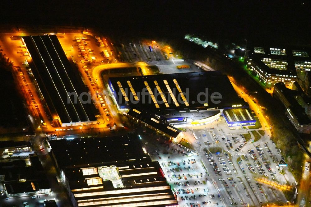 Berlin Bei Nacht Von Oben Nachtluftbild Gebaude Des