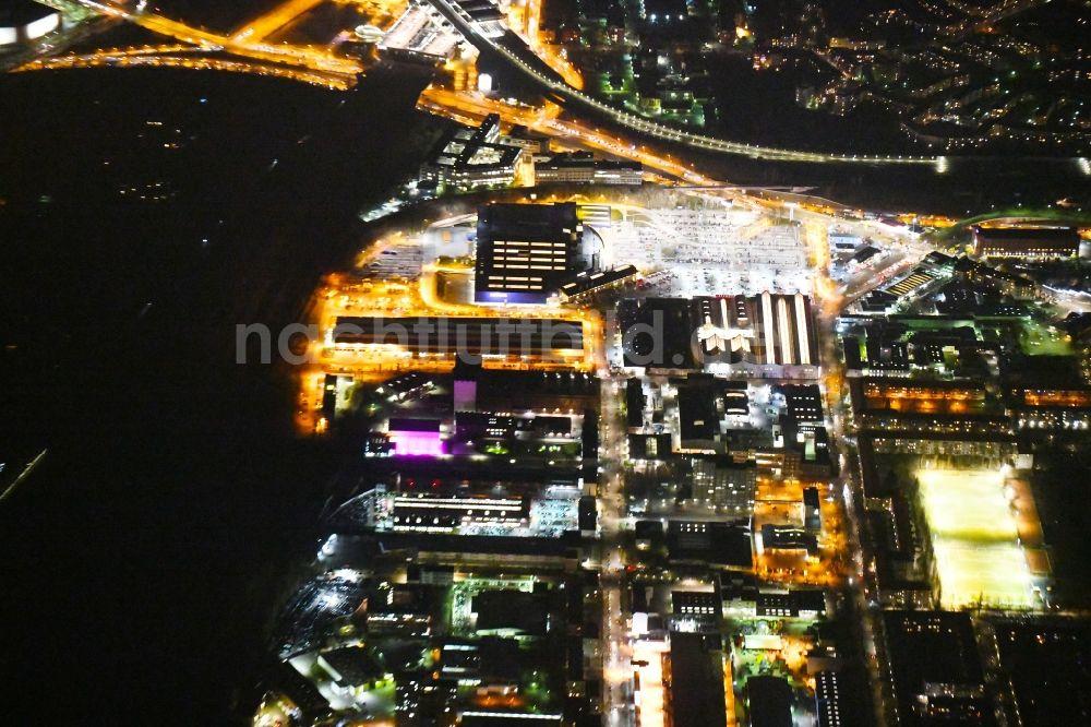 Berlin bei nacht von oben nachtluftbild geb ude des einrichtungshaus m belmarkt der ikea for Einrichtungshaus berlin