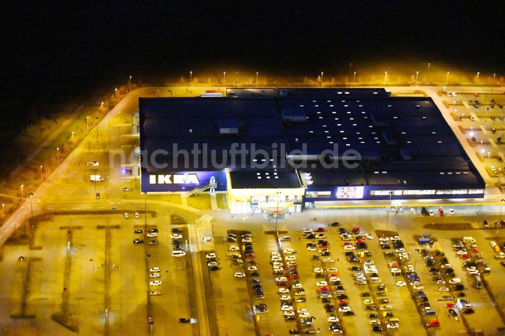 Nachtluftbild Erfurt Nachtluftbild Gebäude Des Einrichtungshaus