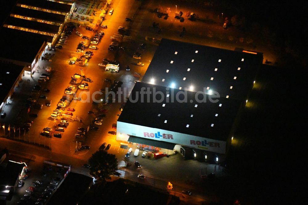Fürstenwaldespree Bei Nacht Von Oben Nachtluftbild Gebäude Des