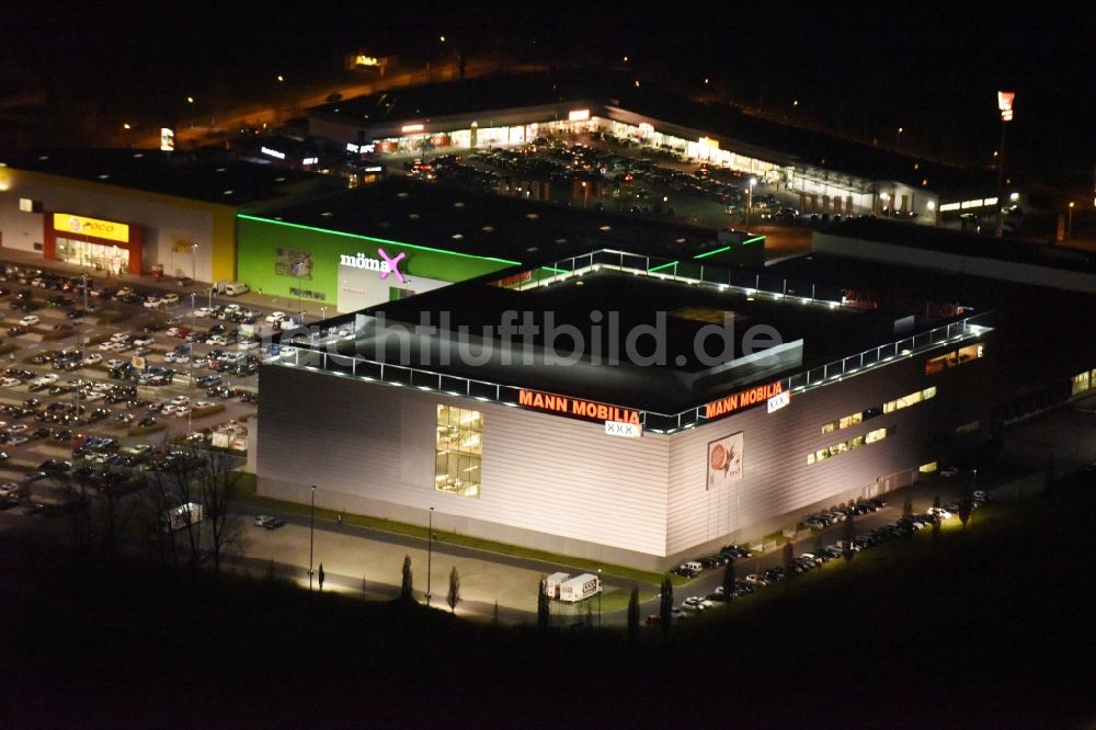 Nacht Luftaufnahme Eschborn Nachtluftbild Gebäude Des
