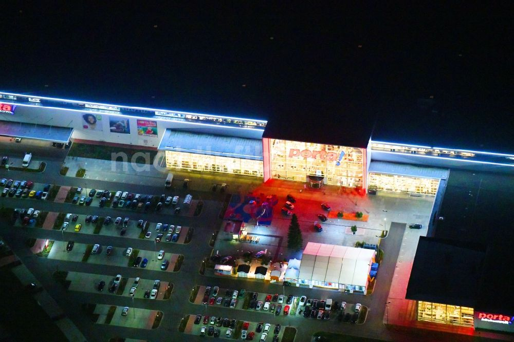 Nacht Luftaufnahme Berlin Nachtluftbild Möbelhaus Der Porta Gruppe