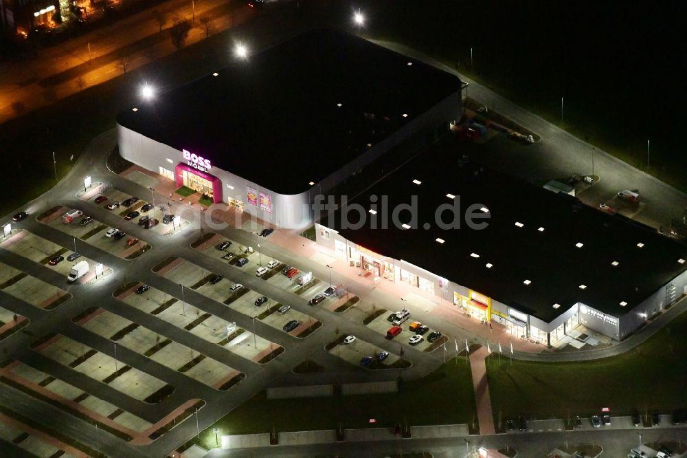 Berlin Bei Nacht Von Oben Nachtluftbild Möbelhaus Der Porta Gruppe