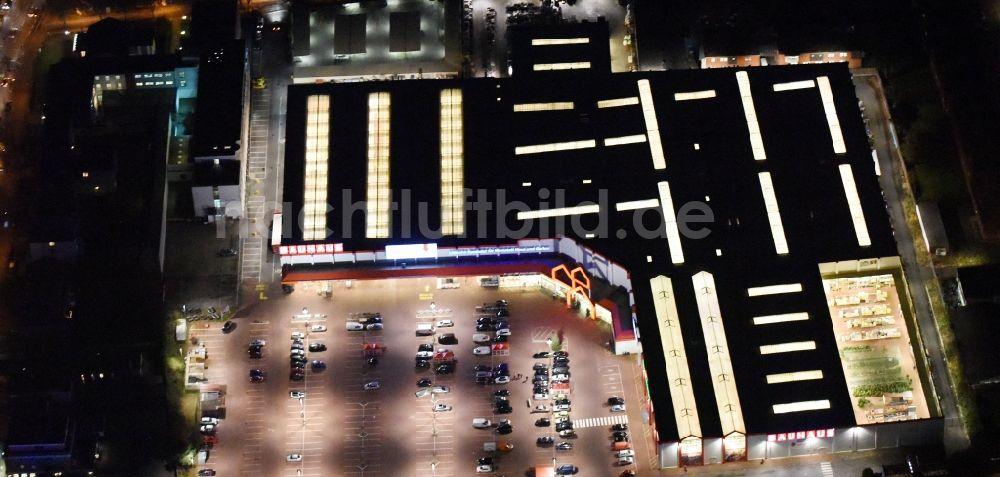 Nachtluftbild Lubeck Nachtluftbild Vom Gebaude Des Baumarktes