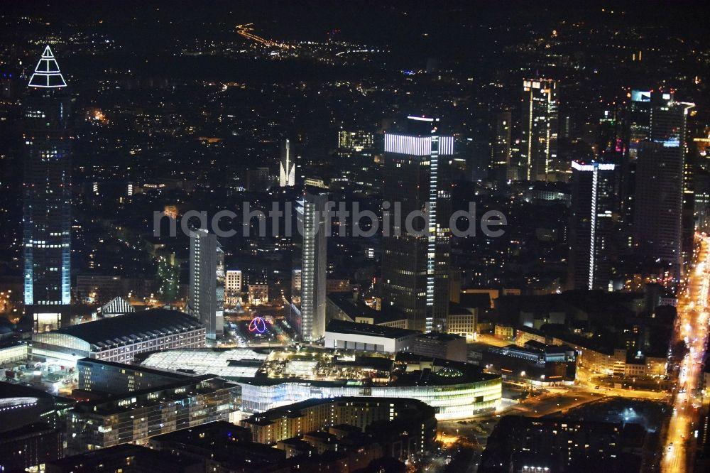 frankfurt am main bei nacht von oben nachtluftbild vom. Black Bedroom Furniture Sets. Home Design Ideas